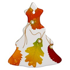 Vector Beautiful Maple Leaf Christmas Tree Ornament (Two Sides)