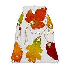 Vector Beautiful Maple Leaf Bell Ornament (two Sides)
