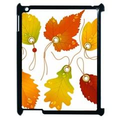 Vector Beautiful Maple Leaf Apple iPad 2 Case (Black)
