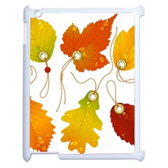 Vector Beautiful Maple Leaf Apple iPad 2 Case (White)