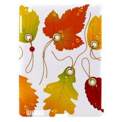 Vector Beautiful Maple Leaf Apple Ipad 3/4 Hardshell Case (compatible With Smart Cover)