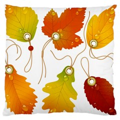 Vector Beautiful Maple Leaf Large Cushion Case (Two Sides)