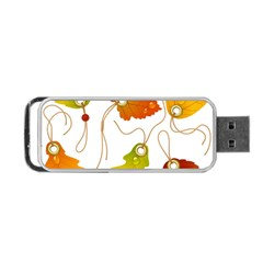 Vector Beautiful Maple Leaf Portable USB Flash (One Side)