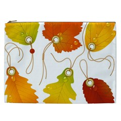 Vector Beautiful Maple Leaf Cosmetic Bag (XXL)