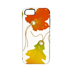 Vector Beautiful Maple Leaf Apple iPhone 5 Classic Hardshell Case (PC+Silicone)