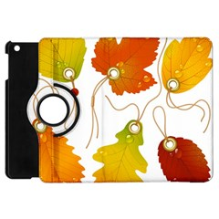 Vector Beautiful Maple Leaf Apple Ipad Mini Flip 360 Case