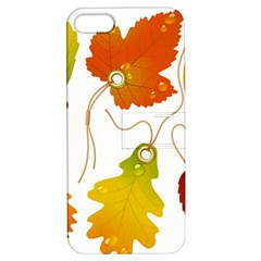Vector Beautiful Maple Leaf Apple Iphone 5 Hardshell Case With Stand