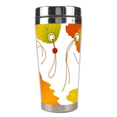 Vector Beautiful Maple Leaf Stainless Steel Travel Tumblers