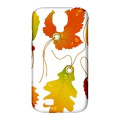 Vector Beautiful Maple Leaf Samsung Galaxy S4 Classic Hardshell Case (PC+Silicone)