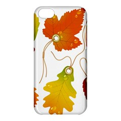 Vector Beautiful Maple Leaf Apple Iphone 5c Hardshell Case