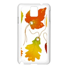 Vector Beautiful Maple Leaf Samsung Galaxy Note 3 N9005 Case (White)