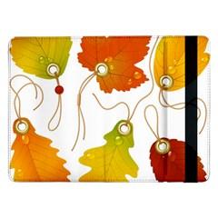 Vector Beautiful Maple Leaf Samsung Galaxy Tab Pro 12.2  Flip Case