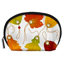 Vector Beautiful Maple Leaf Accessory Pouches (Large)