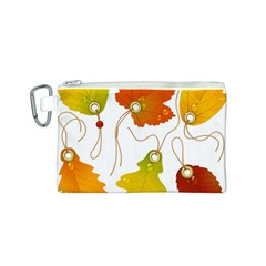 Vector Beautiful Maple Leaf Canvas Cosmetic Bag (s)