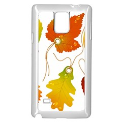 Vector Beautiful Maple Leaf Samsung Galaxy Note 4 Case (white)