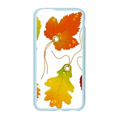 Vector Beautiful Maple Leaf Apple Seamless iPhone 6/6S Case (Color)