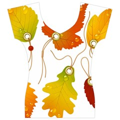 Vector Beautiful Maple Leaf Women s V-Neck Cap Sleeve Top