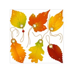 Vector Beautiful Maple Leaf Small Satin Scarf (Square)