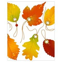 Vector Beautiful Maple Leaf Drawstring Bag (small)