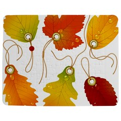 Vector Beautiful Maple Leaf Jigsaw Puzzle Photo Stand (Rectangular)