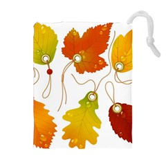 Vector Beautiful Maple Leaf Drawstring Pouches (Extra Large)