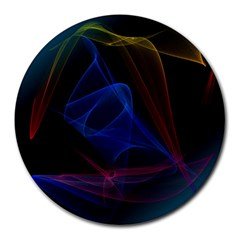 Lines Rays Background Light Pattern Round Mousepads