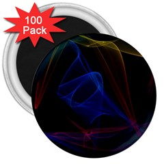 Lines Rays Background Light Pattern 3  Magnets (100 Pack)