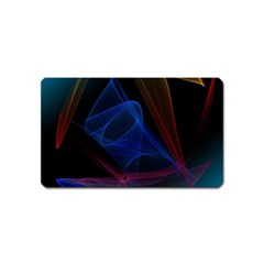 Lines Rays Background Light Pattern Magnet (Name Card)