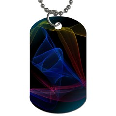 Lines Rays Background Light Pattern Dog Tag (One Side)