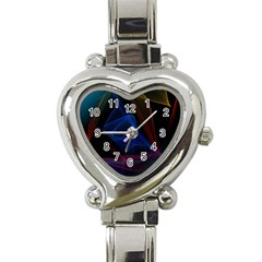 Lines Rays Background Light Pattern Heart Italian Charm Watch
