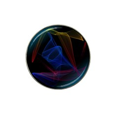 Lines Rays Background Light Pattern Hat Clip Ball Marker (4 pack)