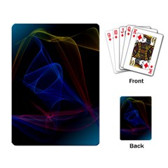 Lines Rays Background Light Pattern Playing Card
