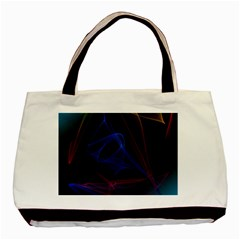 Lines Rays Background Light Pattern Basic Tote Bag