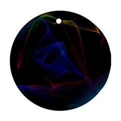 Lines Rays Background Light Pattern Round Ornament (Two Sides)