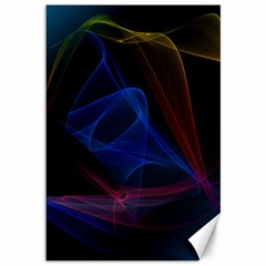 Lines Rays Background Light Pattern Canvas 12  x 18