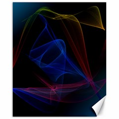 Lines Rays Background Light Pattern Canvas 16  x 20
