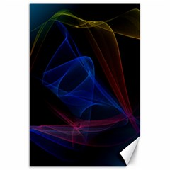 Lines Rays Background Light Pattern Canvas 20  X 30