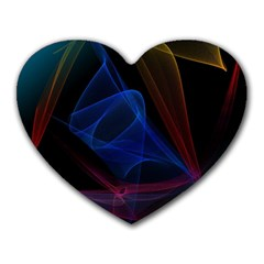 Lines Rays Background Light Pattern Heart Mousepads