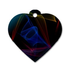 Lines Rays Background Light Pattern Dog Tag Heart (One Side)