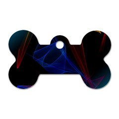 Lines Rays Background Light Pattern Dog Tag Bone (Two Sides)