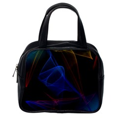 Lines Rays Background Light Pattern Classic Handbags (one Side)