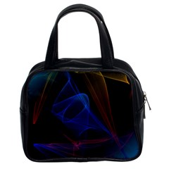 Lines Rays Background Light Pattern Classic Handbags (2 Sides)
