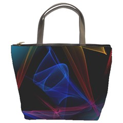 Lines Rays Background Light Pattern Bucket Bags