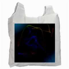 Lines Rays Background Light Pattern Recycle Bag (Two Side)