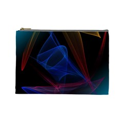 Lines Rays Background Light Pattern Cosmetic Bag (Large)