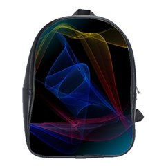 Lines Rays Background Light Pattern School Bags(Large)