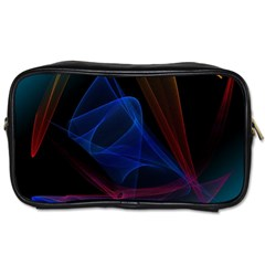 Lines Rays Background Light Pattern Toiletries Bags 2-Side