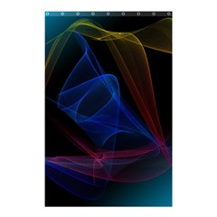 Lines Rays Background Light Pattern Shower Curtain 48  x 72  (Small)