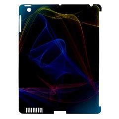 Lines Rays Background Light Pattern Apple iPad 3/4 Hardshell Case (Compatible with Smart Cover)