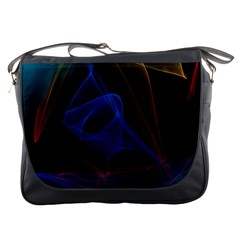 Lines Rays Background Light Pattern Messenger Bags